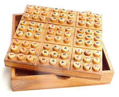 Logica Giochi Art Sudoku Rompicapo Matematico In Legno Multigioco Scatola Richiudibile Con Libretto Da 30 Giochi 0