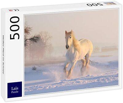 Lais Puzzle Cavallo Bianco Nella Neve 500 Pezzi 0