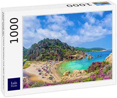Lais Puzzle Paesaggio Della Costa Paradiso Con La Spiaggia Li Cossi Sardegna 1000 Pezzi 0