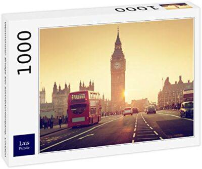 Lais Puzzle Ponte Di Westminster Al Tramonto Londra 1000 Pezzi 0