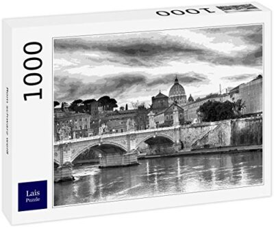 Lais Puzzle Roma Bianco Nero 1000 Pezzi 0