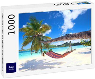 Lais Puzzle Spiaggia Tropicale Con Palme E Amaca 1000 Pezzi 0