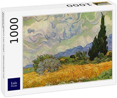 Lais Puzzle Vincent Willem Van Gogh Campo Di Grano Con Cipressi 1000 Pezzi 0