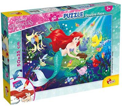 Lisciani Giochi Little Mermaid Puzzle Doppia Faccia 60 Pezzi Multicolore 74051 0
