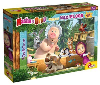Lisciani Giochi Masha Puzzle Maxifloor 24 Una Buona Giornata Puzzle Per Bambini Multicolore 86092 0