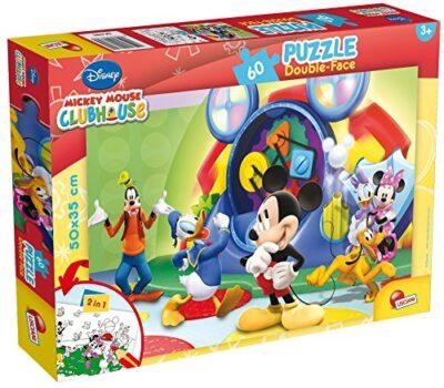 Lisciani Giochi Mickey Mouse Disney Puzzle Doppia Faccia 60 Pezzi Multicolore 47895 0