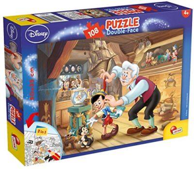 Lisciani Giochi Pinocchio Disney Puzzle Doppia Faccia Plus 108 Pezzi Multicolore 48014 0
