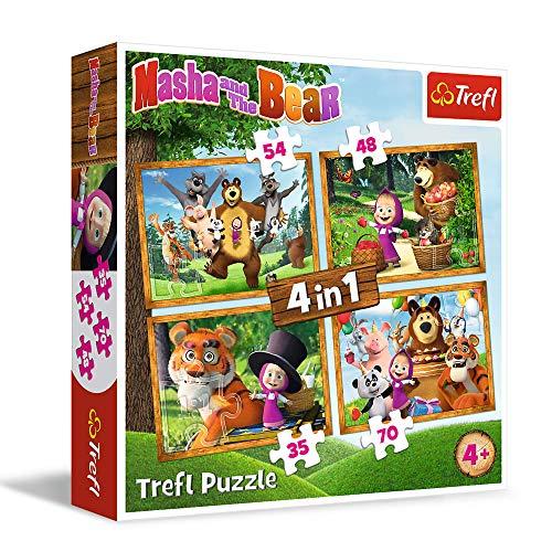 Masha E Lorso Trefl 4 In 1 207pcs Puzzle 0
