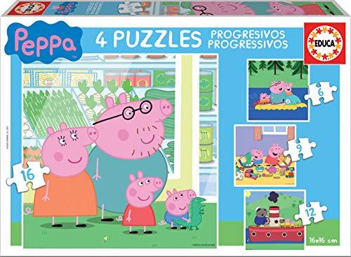 Peppa Pig Progressivo Puzzle 6 9 12 16 Pezzi Educa Borras 15918 0