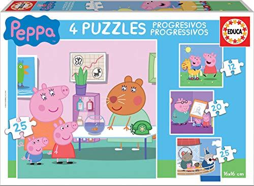 Peppa Pig Puzzle Progressive 12 16 20 25 Pezzi 0