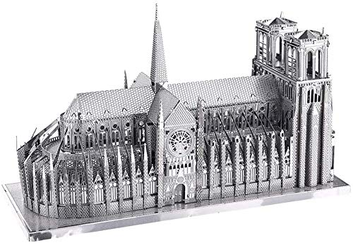 Piececool Kit Modello In Metallo Noter Dame Cathedral Paris Puzzle 3d In Metallo Per Adulti 0 0