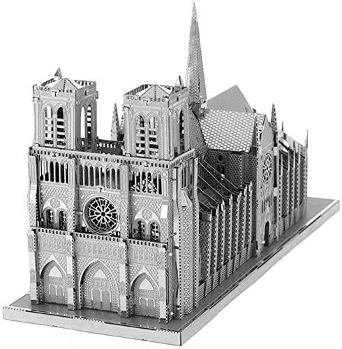 Piececool Kit Modello In Metallo Noter Dame Cathedral Paris Puzzle 3d In Metallo Per Adulti 0 1