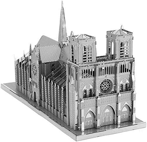 Piececool Kit Modello In Metallo Noter Dame Cathedral Paris Puzzle 3d In Metallo Per Adulti 0 2