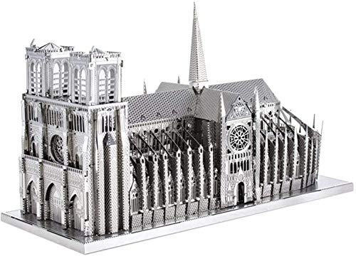 Piececool Kit Modello In Metallo Noter Dame Cathedral Paris Puzzle 3d In Metallo Per Adulti 0
