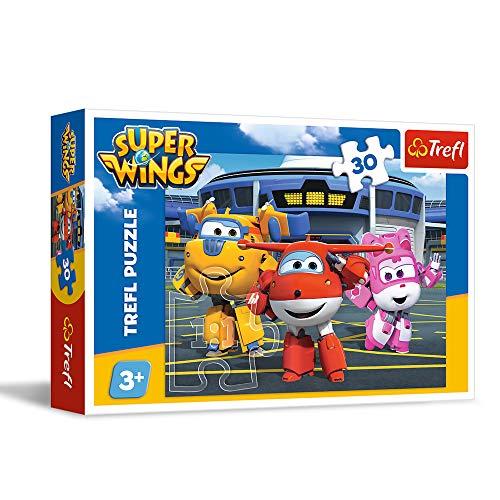 Puzzle Super Wings Przyjaciele Przed Hangarem 30 0