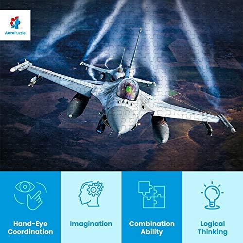 Puzzle Da 1000 Pezzi Puzzle A Forma Di Aereo 1000 Pezzi Originali Aereo F 16 Baltic Air Policing Scatola Da 1000 Pezzi Per Adulti E Bambini 0 1