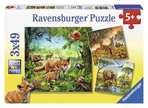 Ravensburger 09330 Animali Del Mondo Puzzle 3 X 49 Pezzi 0