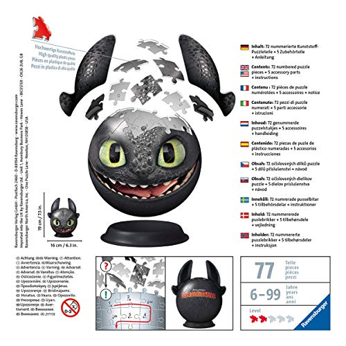 Ravensburger 11145 Dragons 3 Puzzle Ball 3d 0 0