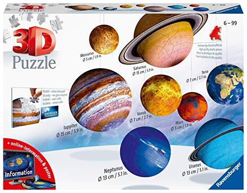 Ravensburger 11668 Il Sistema Planetario 3d Puzzleball 540 Pezzi Multicolore 8 Pianeti Eta Raccomandata 6 0