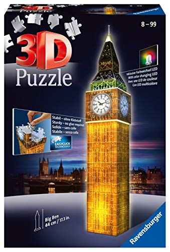Ravensburger 12588 Big Ben Puzzle 3d Edizione Speciale Notte 216 Pezzi 12 588 3 0