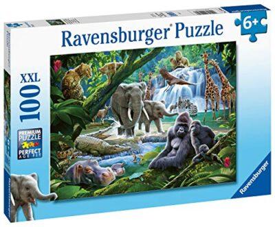 Ravensburger 129706 Animali Della Giungla Puzzle 100 Pezzi Xxl Per Bambini Eta Raccomandata 6 0 1