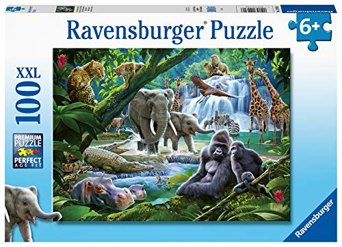 Ravensburger 129706 Animali Della Giungla Puzzle 100 Pezzi Xxl Per Bambini Eta Raccomandata 6 0