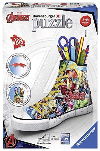 Ravensburger 3d Puzzle Sneaker Di Avengers Portapenne Di 108 Pezzi Eta Raccomandata 8 12113 7 0