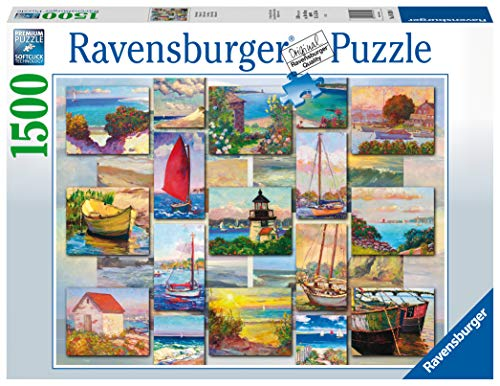 Ravensburger Collage Costiero Puzzle 1500 Pezzi Relax Puzzles Da Adulti Dimensione 80x60 Cm Stampa Di Alta Qualita Viaggi 0