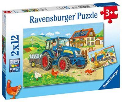 Ravensburger Costruzioni E Fattoria Puzzle 2x12 Pezzi 0 0