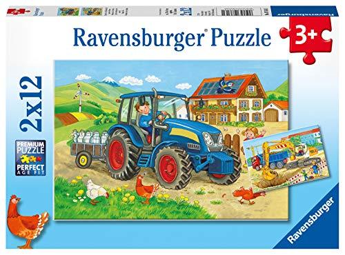 Ravensburger Costruzioni E Fattoria Puzzle 2x12 Pezzi 0