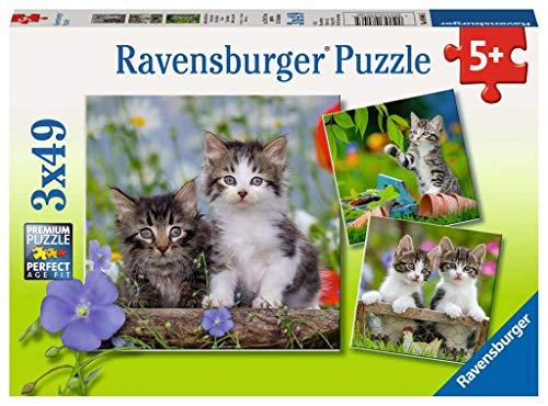 Ravensburger Gattini Tigrati Puzzle Per Bambini Multicolore 3 X 49 Pezzi 08046 0