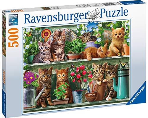 Ravensburger Gatto Sullo Scaffale Puzzle Da Adulti Multicolore 500 Pezzi 14824 0 0