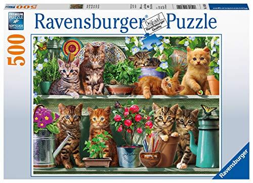 Ravensburger Gatto Sullo Scaffale Puzzle Da Adulti Multicolore 500 Pezzi 14824 0