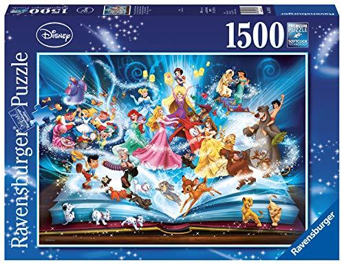 Ravensburger Il Magico Libro Delle Fiabe Disney Classics Puzzle 1500 Pezzi Relax Puzzles Da Adulti Dimensione 80x60 Cm Stampa Di Alta Qualita 0
