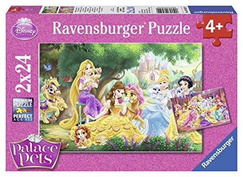 Ravensburger Italy I Migliori Aamici Delle Principesse Disney 2 Puzzle Da 24 Pezzi Ciascuno Multicolore 89529 0