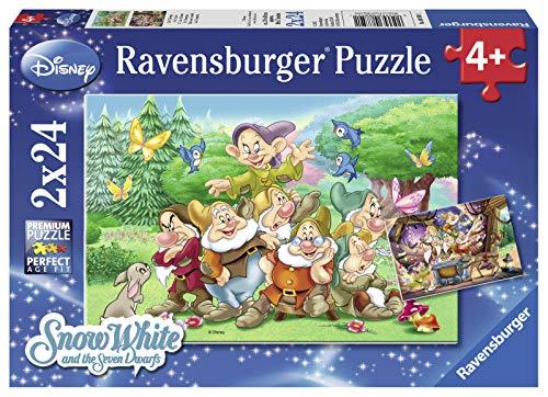 Ravensburger Italy I Sette Nani Biancaneve Puzzle 2x24 Pezzi Multicolore 8859 0