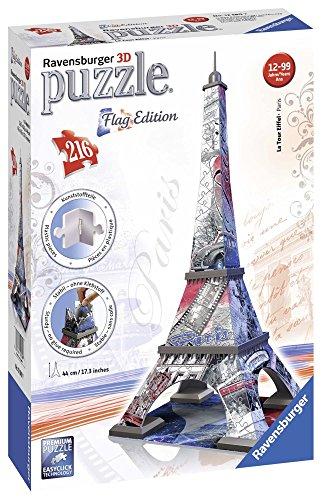 Ravensburger Italy Puzzle 3d Eiffel Tower Edizione Bandiera 216 Pezzi 12580 0