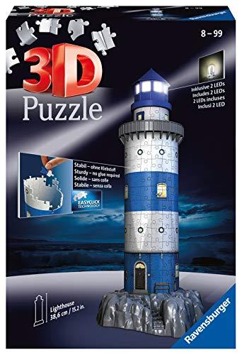 Ravensburger Italy Puzzle 3d Faro Edizione Speciale Notte 216 Pezzi 12577 7 0