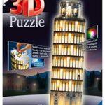 Ravensburger Italy Torre Di Pisa Puzzle 3d Building Night Edition 12515 0