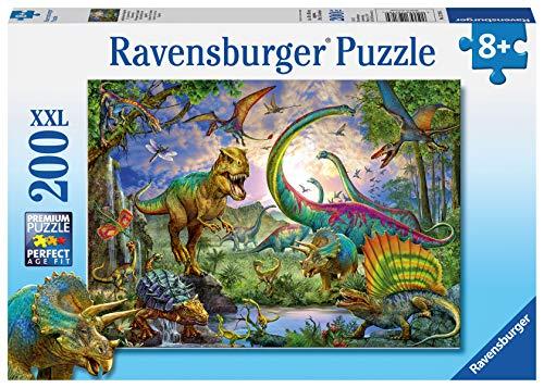 Ravensburger Italy Nel Regno Dei Giganti Dinosauri Puzzle 200 Pezzi Xxl Multicolore 12718 4 0 0