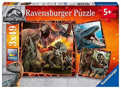 Ravensburger Jurassic World Puzzle Per Bambini Multicolore 3 X 49 Pezzi 8054 0