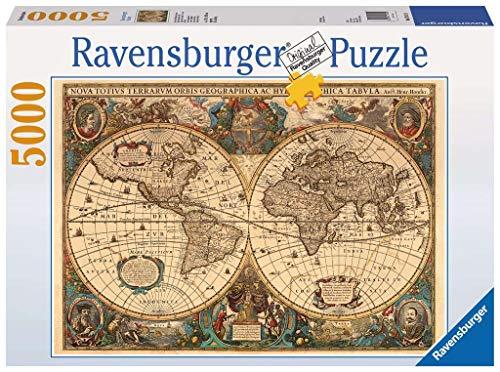 Ravensburger Mappamondo Antico Jigsaw 5000 Pezzi Puzzle Da Adulti Eta Consigliata 14 Multicolore 17411 0