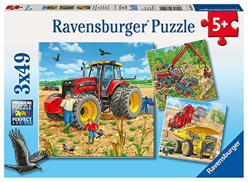 Ravensburger Mezzi Di Lavoro Puzzle 3x49 Pezzi 0