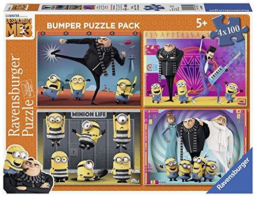 Ravensburger Minions Puzzle 4 X 100 Pezzi Bumper Pack Gru Mi Villano Favorito 6892 0
