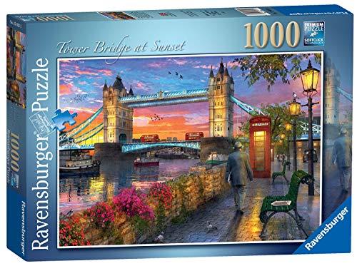Ravensburger Puzzle 1000 Pezzi Tower Bridge Al Tramonto Collezione Paesaggi Foto Puzzle Londra Puzzle Per Adulti Rompicapo Ravensburger Stampa Di Ottima Qualita 0