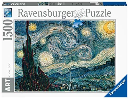 Ravensburger Puzzle 1500 Pezzi Dimensioni Puzzle 80x60 Cm Collezione Arte Dipinti Quadri Famosi Puzzle Art Collection Museum Notte Stellata Di Van Gogh Puzzles Da Adulti 0