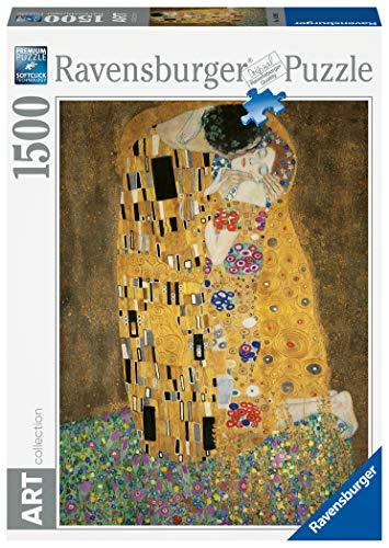Ravensburger Puzzle 1500 Pezzi Dimensioni Puzzle 80x60 Cm Collezione Arte Puzzles Da Adulti Dipinti Quadri Famosi Puzzle Art Collection Museum Il Bacio Di Klimt 0
