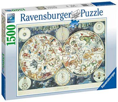 Ravensburger Puzzle 1500 Pezzi Mappa Del Mondo Di Animali Fantastici Puzzles Per Adulti Dimensioni Puzzle 80x60 Cm Relax Stampa Di Alta Qualita Rompicapo Logica 0 0