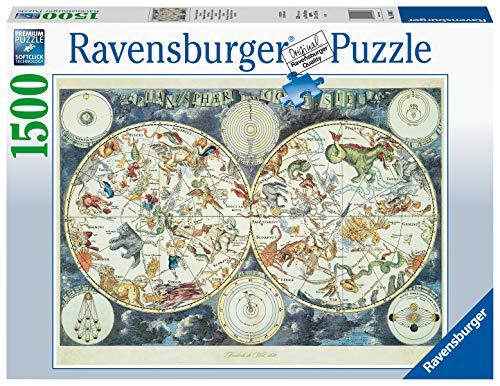 Ravensburger Puzzle 1500 Pezzi Mappa Del Mondo Di Animali Fantastici Puzzles Per Adulti Dimensioni Puzzle 80x60 Cm Relax Stampa Di Alta Qualita Rompicapo Logica 0