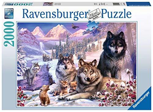 Ravensburger Puzzle 2000 Pezzi Lupi Nella Neve Animali Collezione Fantasy Jigsaw Puzzle Per Adulti Puzzles Ravensburger Stampa Di Alta Qualita Dimensione Puzzle 98x75cm 0